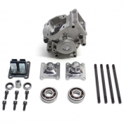 ENGINE CRANKCASE FOR MOPED POLINI FOR MBK 51 (SUPPLIED WITH BEARINGS + STUDS)