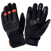 GLOVES TUCANO-SPRING/SUMMER DOGON BLACK/ORANGE T11 (XL) (APPROVED EN13594) (TOUCH SCREEN FUNCTION)