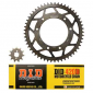 CHAIN AND SPROCKET KIT FOR APRILIA 50 SX 2006, RX 2006> -DID- 130 LINKS