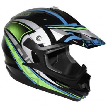 HELMET-CROSS ENDURO ADX MX2 THUNDERBOLT BLACK/GREEN FLUO S