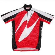 CYCLING JERSEY (FOR CHILD)-SHORT SLEEVES- RED -SIZE 8/10 Y.O.