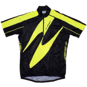 CYCLING JERSEY (FOR CHILD)-SHORT SLEEVES- YELLOW FLUO -SIZE 8/10 Y.O.