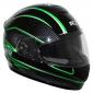HELMET-FULL FACE ADX XR2 MASTER DOUBLE VISORS BLACK/GREEN XS