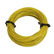ELECTRIC WIRE 7/10 (0,50mm) YELLOW (50M) -SELECTION P2R-