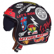 HELMET-OPEN FACE MT LE MANS 2 SV ANARCHY BLACK XXL