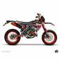 DECAL STICKERS FOR 50cc MOTORBIKE PREDATOR RED/BLACK FOR RIEJU 50 MRT 2010> -KUTVEK-