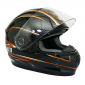 HELMET-FULL FACE ADX XR2 MASTER DOUBLE VISORS BLACK/ORANGE XS