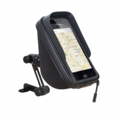 SMARTPHONE/GPS HOLDER - SHAD ON MIRROR WITH WATERPROOF CASE (FOR PHONE 180X90mm) (X0SG75M)