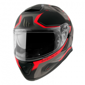 HELMET-FULL FACE MT THUNDER 3 SV TURBINE MATT RED XXL (DOUBLE VISORS PINLOCK READY)