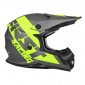 HELMET-CROSS ENDURO FIRST RACING K2 GREY/FLUO/BLACK S