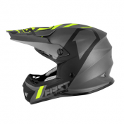 HELMET-CROSS ENDURO FIRST RACING K2 GREY/FLUO/BLACK XL