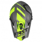 HELMET-CROSS ENDURO FIRST RACING K2 GREY/FLUO/BLACK XL