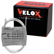CABLE - FOR BRAKES-FOR MOPED - VELOX G.1 for MBK - END 6x10mm Ø 18/10 Lg 2,25M (14 WIRES) (IN BOX PER 10)