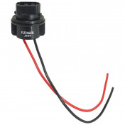 BULB HOLDER 12V W2.5x16D WITH WIRE -FLOSSER-