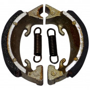 BRAKE SHOE FOR MOPED PEUGEOT 101/102/SOLEX 3300 (Ø 70X16mm LELEU TYPE, 2 SPRINGS) (PAIR) -SELECTION P2R-