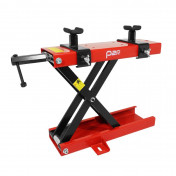 MOTORCYCLE LIFT STAND P2R - MECANICAL SCREW JACK - WITH BRACKETS- RED STEEL (HEIGHT min 90mm/max 405mm)