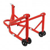FRONT PADDOCK STAND (Bike Lift) P2R (under lower fork yoke) - RED STEEL