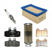 """MAINTENANCE KIT """"PIAGGIO GENUINE PARTS"""" MOTO-GUZZI V7 750 2017> E4 ABS (OIL FILTER+AIR FILTER+SPARK PLUGS+REAR and FRONT BRAKE PADS)) -2R000326-"""