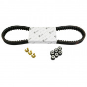 KIT TRANSMISSION (COURROIE, GALETS, GUIDES) ORIGINE PIAGGIO 125 BEVERLY -1R000434-