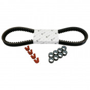 KIT TRANSMISSION (COURROIE, GALETS, GUIDES) ORIGINE PIAGGIO 350 MP3, X10, BEVERLY -1R000448-