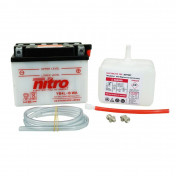 BATTERY 12V 4 Ah YB4L-B WA NITRO WITH MAINTENANCE DELIVERED WITH ACID PACK (Lg120xL70xH92)