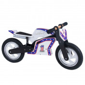 BALANCE BIKE- KIDDIMOTO SUPERBIKE - WOODEN - KNIEVEL WHITE