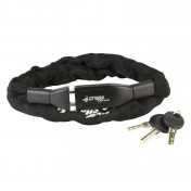 BICYCLE ANTITHEFT- KEY CHAIN LOCK CROPS Ø 6mm L 1,10m- COMPATIBLE WITH AUDIBLE ALARM 159964