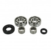 BALL BEARINGS+NEEDLE BEARINGS FOR GEARBOX -SKF - FOR DERBI 50 SENDA (2x6203 C4 + 2 x HK1412 + 2 SPI 12x20x5 / 17x35x7)