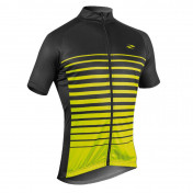 ADULT CYCLING JERSEY - GIST FLOW -SHORT SLEEVES-FULL LENGHT ZIP-L FLUO YELLOW/BLACK S