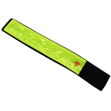 SAFETY ARMBAND- P2R - YELLOW REFLECTIVE- WITH 1 LED (SUPPLIED WITH BATTERY CR2032) (SOLD PER UNIT)