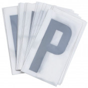LETTER FOR LICENSE PLATE PVC MOTORBIKE/SCOOTER 45mm P (SOLD PER 10)