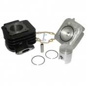 COMPLETE CYLINDER KIT FOR SCOOT ARTEK K1 CAST IRON FOR MBK 50 BOOSTER, STUNT/YAMAMA 50 BWS, SLIDER