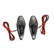"""DECORATIVE LIGHTNING REPLAY """"WATER DROP"""" WING TRANSPARENT/BLACK - WITH ORANGE BULB (L 62mm / H 23mm / W 18mm)(PAIR) **"""