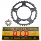 CHAIN AND SPROCKET KIT FOR APRILIA 50 RS 2003->2005 420 11x47 (BORE Ø 102mm) (OEM SPECIFICATION) -DID-