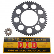 CHAIN AND SPROCKET KIT FOR APRILIA 50 RX,SX 2006>2011 420 11x53 (BORE Ø 105mm) (OEM SPECIFICATION) -DID