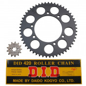 CHAIN AND SPROCKET KIT FOR DERBI 50 SENDA 2000>2001 420 13x53 (BORE Ø 105mm) (OEM SPECIFICATION) -DID-