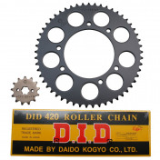 CHAIN AND SPROCKET KIT FOR DERBI 50 SENDA DRD 2002>2005 420 13x53 (BORE Ø 102mm) -DID-