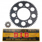 CHAIN AND SPROCKET KIT FOR DERBI 50 SENDA DRD RACING 2006>2011/BULTACO 50 ASTRO, LOBITO 1999>2002 420 11x53 (BORE Ø 102mm) (OEM SPECIFICATION) -DID-