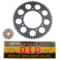 CHAIN AND SPROCKET KIT FOR DERBI 50 SENDA DRD 2002>2005 420 14x53 (BORE Ø 102mm) (OEM SPECIFICATION) -DID-