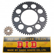 CHAIN AND SPROCKET KIT FOR GILERA 50 RCR 2003>2005 420 13x53 (BORE Ø 105mm) (OEM SPECIFICATION) -DID
