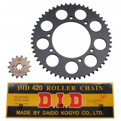 CHAIN AND SPROCKET KIT FOR GILERA 50 SMT 2003>2005 420 14x53 (BORE Ø 105mm) (OEM SPECIFICATION) -DID-