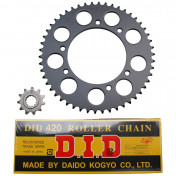 CHAIN AND SPROCKET KIT FOR MBK 50 X-LIMIT/YAMAHA 50 DTR 2004> 420 11x50 (BORE Ø 105mm) (OEM SPECIFICATION) -DID-