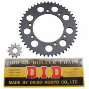CHAIN AND SPROCKET KIT FOR MBK 50 X-LIMIT 2003>2006/YAMAHA 50 DTR 2003>2006 420 11x48 (BORE Ø 105mm) -DID-