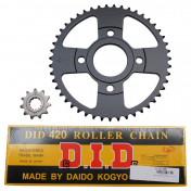CHAIN AND SPROCKET KIT FOR MBK 50 X-POWER 2003>2006/YAMAHA 50 TZR 2003>2006 420 11x47 (BORE Ø 54mm) (OEM SPECIFICATION) -DID