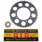 CHAIN AND SPROCKET KIT FOR PEUGEOT 50 XPS 2002>, XP6 SM 2002>2003 (420, 12x53, BORE Ø 105mm) (OEM SPECIFICATION) -DID