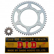 CHAIN AND SPROCKET KIT FOR PEUGEOT 50 XR6 2001>2007 420 12x52 (BORE Ø 108mm) (OEM SPECIFICATION) -DID-