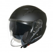 HELMET-OPEN FACE MT AVENUE SV SOLID DOUBLE VISORS MATT BLACK XS