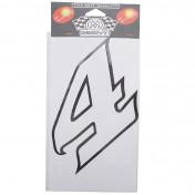 AUTOCOLLANT/STICKER MERYT LARGE NUMERO 4 BLANC (H15cm)