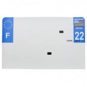 PLASTIC STRIP FOR BLANK PVC LICENSE PLATE (MOTORBIKE FORMAT 210X130)-DEPT 22/EUROPE (SOLD PER UNIT)