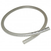 COOLANT HOSE 12x18mm FOR PIAGGIO 50 NRG/GILERA 50 RUNNER TRANSPARENT REINFORCED (1M) -SELECTION P2R-